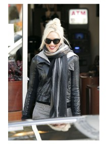 Gwen Stefani Black Plain Leather Jacket