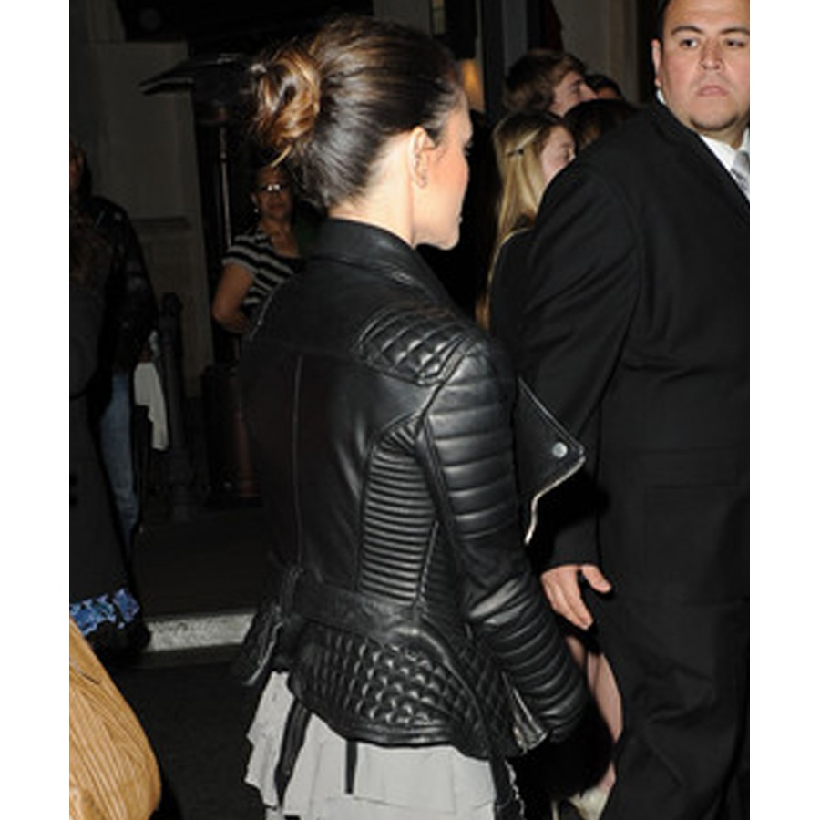 Rachel Bilson Leather Jacket Womens Black Quilted Jacket