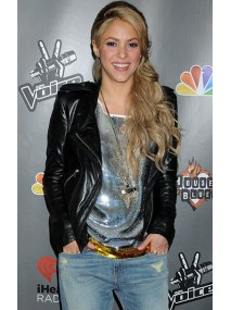 Shakira Black Leather Jacket