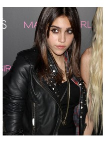Lourdes Leon Studded Black Leather Jacket