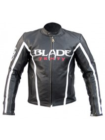 Blade Motorcycle Riding Armor Biker Black Leather Jacket