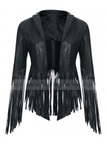 Cheryl Cole Soft Leather Fringed Jacket