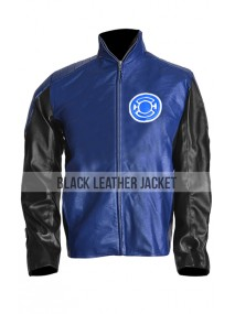 Kyle Rayner Blue Lantern Leather Jacket