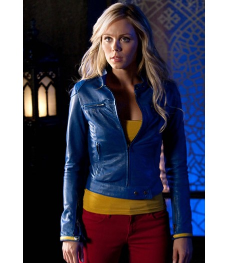 Smallville SuperGirl Blue Leather Jacket