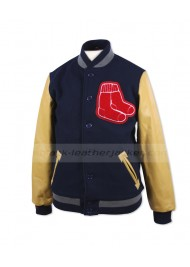 Boston Red Sox Track Leather And Wool Jacket