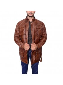 Brad Pitt Panther Benjamin Button Leather Jacket