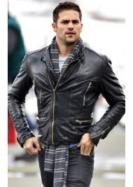 Brant Daugherty Black Leather Jacket