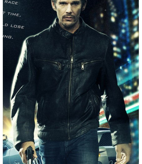 Brent Magna Getaway Film Ethan Hawke Black Leather Jacket