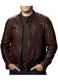 Mark Valley Human Target Christopher Chance Leather Jacket