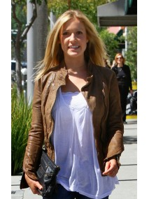 Kristin Cavallari Brown Leather Jacket