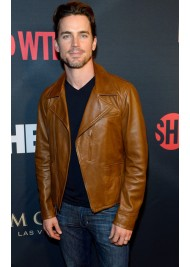 Matt Bomer Brown Leather Jacket