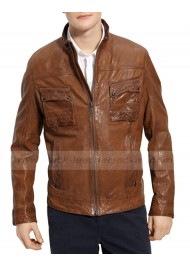 Older Joe Bruce Willis Looper Leather Jacket