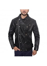 Burberry Prorsum Quilted Biker Black Jacket