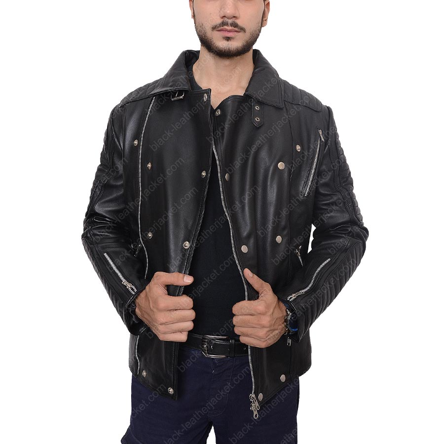 men s leather jackets quilt mens bikers bomber burberry jacket quilted pin