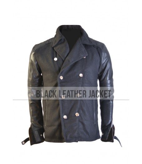 Camp X-Ray Lane Garrison Black Leather Jacket