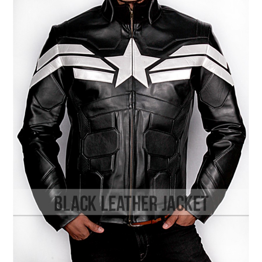 0271fbfbc Captain America The Winter Soldier Black Jacket