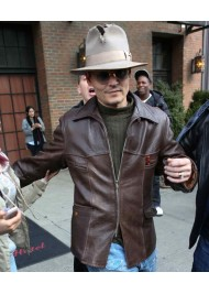 Charles Mortdecai Film Johnny Depp Leather Jacket