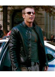 Fantastic Four Chris Evans Black Leather Jacket
