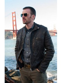 Playing It Cool Chris Evans Leather Jacket