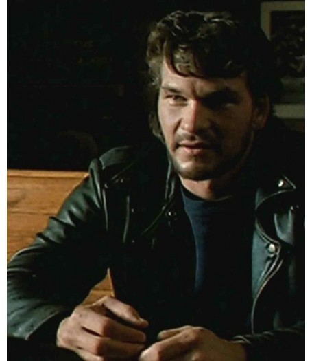 Patrick Swayze Chuck Tiger Warsaw Motorbike Leather Jacket
