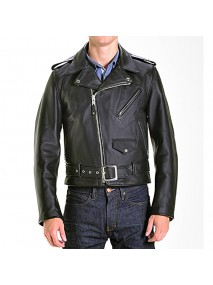 Classic Motorcycle Marlon Brando One Star Leather Jacket