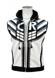 WWE Cody Rhodes White and Black Leather Vest
