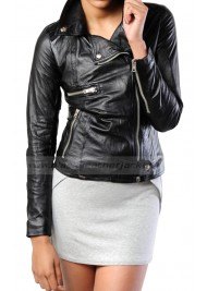 Community Season 5 Britta Perry Leather Jacket