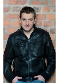 Coronation Street Peter Barlow Black Leather Jacket