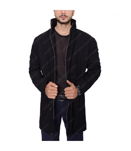 Counterpart Howard Silk Wool Coat