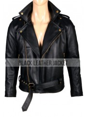 Johnny Depp Black Leather Cry Baby Motorcycle Jacket