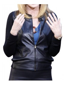 Marg Helgenberger CSI Catherine Willows Black Leather Jacket