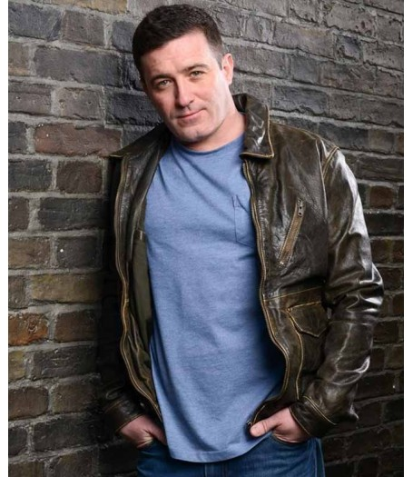 Daniel Coonan Eastenders Brown Leather Jacket