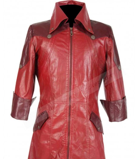 Dante Devil May Cry 4 Leather Trench Coat