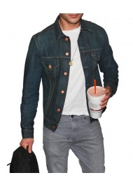 Zac Efron Dark Blue Denim Jean Jacket