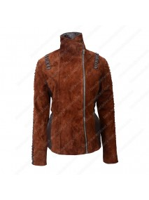 Womens Western Suede Biker Leather Jacket