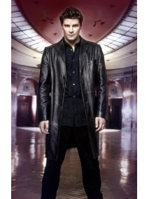 David Boreanaz Angel TV Show Angel Black Leather Coat