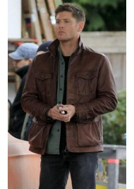 Supernatural Season 7 Dean Winchester Brown Leather Jacket