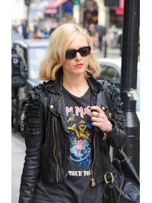 Designer Fearne Cotton Black Leather Jacket