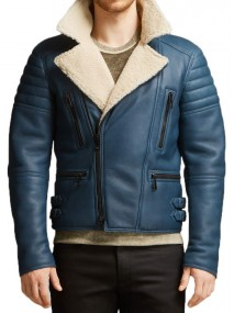 Men's Asymmetrical Leather Jacket