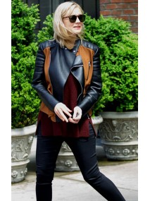 Designer Stylish Carey Mulligan Black Leather Jacket