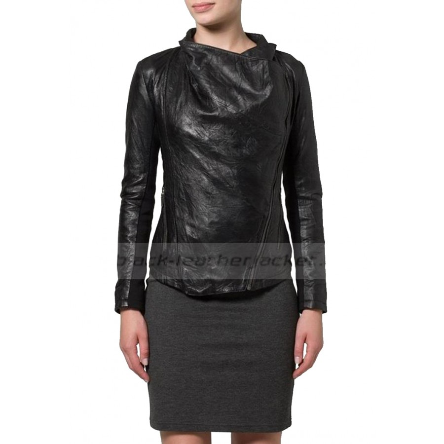 Designer Leather Jacket for Womens | Stylish Black Jacket