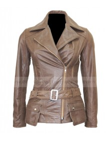 Designer Boston Womens Brown Vintage Leather Jacket