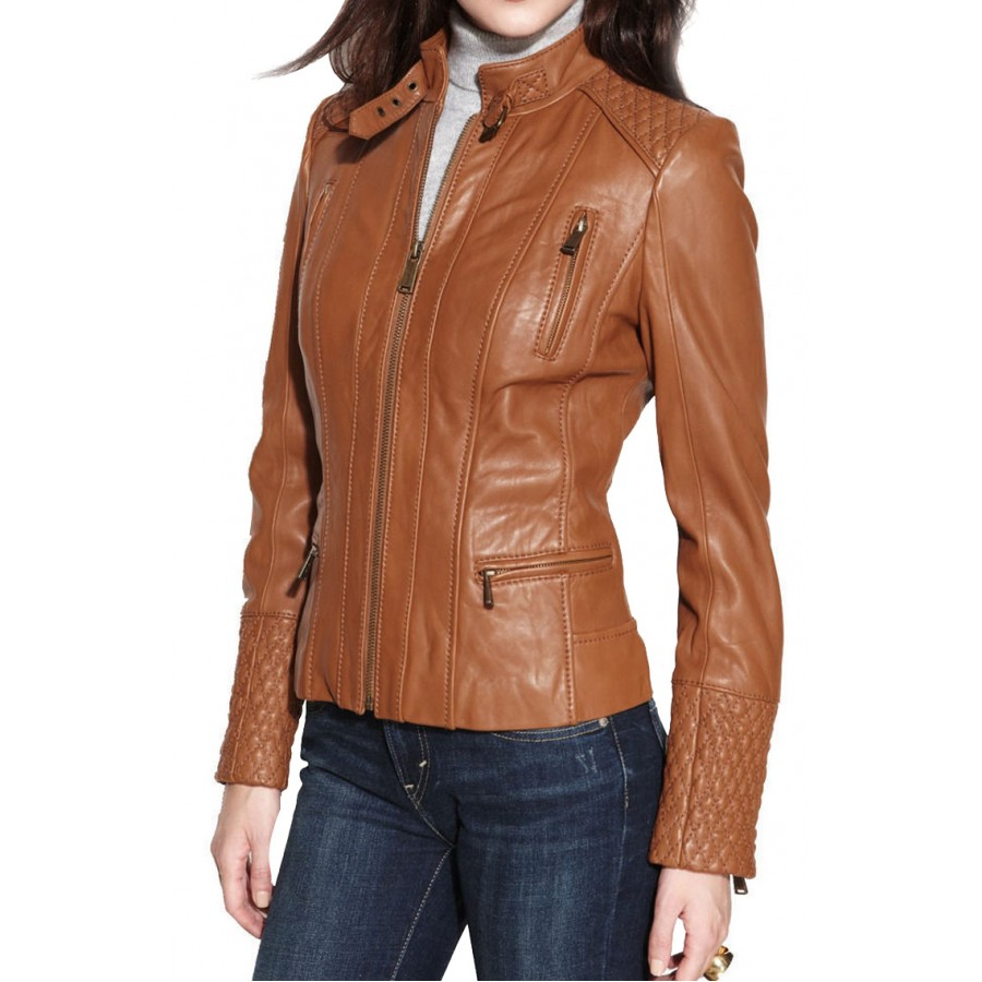 Black womens moto jacket