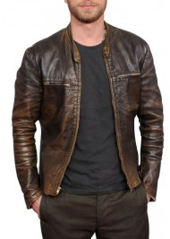 Dierks Bentley Dark Brown Leather Jacket
