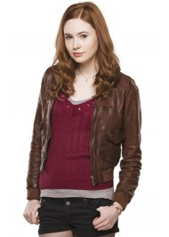 Amy Pond Doctor Who Brown Leather Jacket