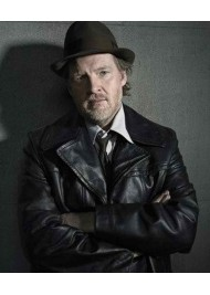 Donal Logue Gotham Harvey Bullock Leather Jacket