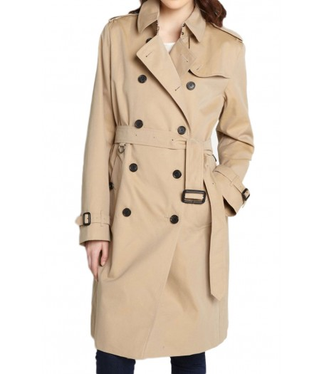 Women's Double Breasted Belted Trench Coat