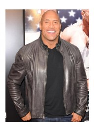 Dwayne Johnson Film San Andreas Black Leather Jacket