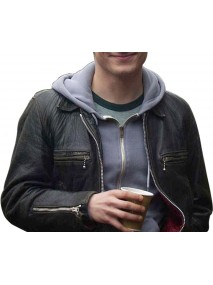 Oxford Murders Elijah Wood Black Leather Jacket