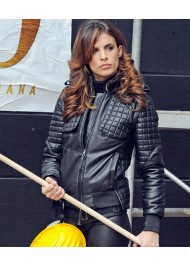 Elisabetta Canalis Black Quilted Jacket